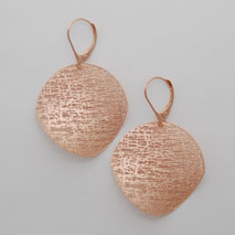 14K Rose Gold Medium Circle Earrings