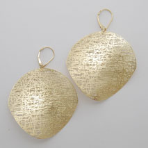 14K Yellow Gold Large Circle Earrings