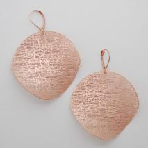 14K Rose Gold Large Circle Potato Chip Earrings