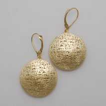 14K Yellow Gold Solid Round Earrings