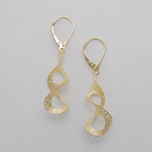 14K Yellow Gold Open Twist Earrings