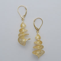 14K Yellow Gold Spiral Earrings