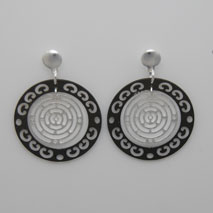 Sterling Silver Black Rhodium Filigree Earrings