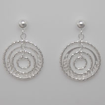 Sterling Silver Filigree Orbit Earrings