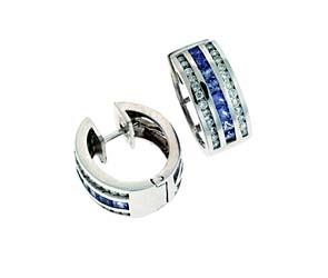 Tanzanite & Diamond Huggie Earrings