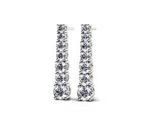 Diamond Cascade Drop Earrings