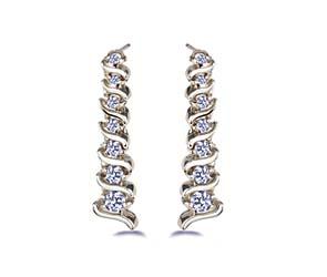 Diamond S Shape Drop Earrings