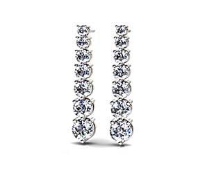 Prong Set Diamond Cascade Earrings