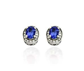 Diamond Accented Tananite Artistic Earrings