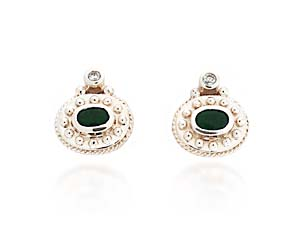 Designer Emerald and Diamond Earrings