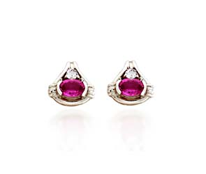 Designer Pink Sapphire and Diamond Earrings