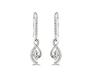 S Drop Designer Earrings