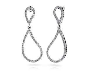 Wavy Eight Diamond Earrings