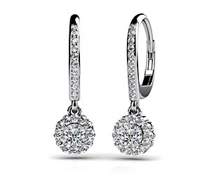 Stylish Diamond Drop Earrings