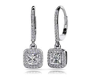 Princess Cut Diamond Allure Earrings