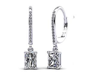Modern Chic Emerald Cut Drop Earrings