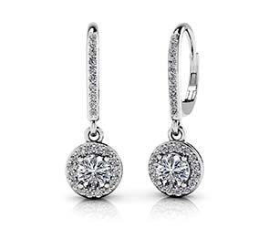 Surrounded With Love Diamond Drop Earrings