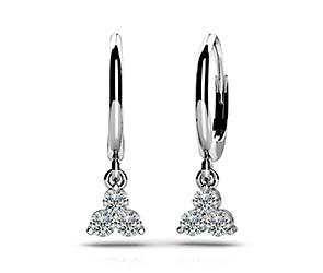 Trillium Diamond Drop Earrings