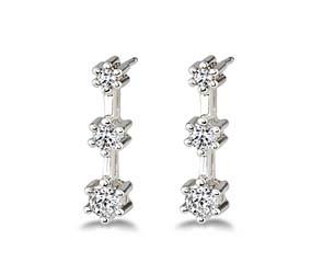 3-Stone Diamond Earrings