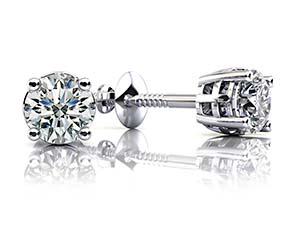 Sign Of Faith Diamond Stud Earrings