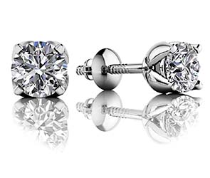 Tulip Diamond Stud Earrings