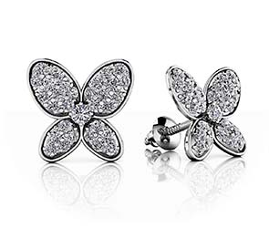 Charming Butterfly Diamond Studs