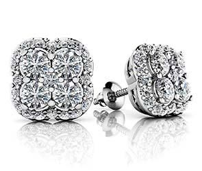 Lucky In Love Designer Stud Earrings