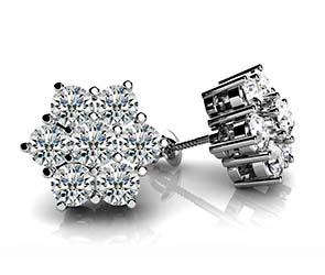 Perfect Petals Diamond Stud Earrings