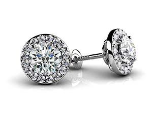Circle Designer Diamond Stud Earrings