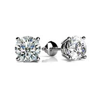 4 Prong Wired Basket Earrings 3/4 Carat Total Weight