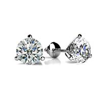 Classic Three Prong Diamond Stud Earrings 1/2 Carat Total Weight