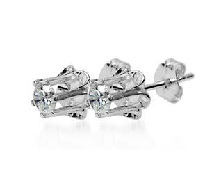 Butter Cup Diamond Earrings Diamond Stud Earrings