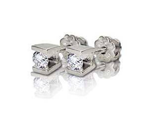 Channel Set Stud Earrings