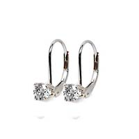 Prong on Leverback Earrings 3/8 Carat Total Weight