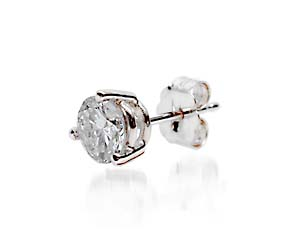 Mens 3 Prong Wired Basket Stud Earring