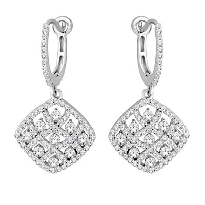Diamond Hoope Earrings 1.5 Carat Total Weight