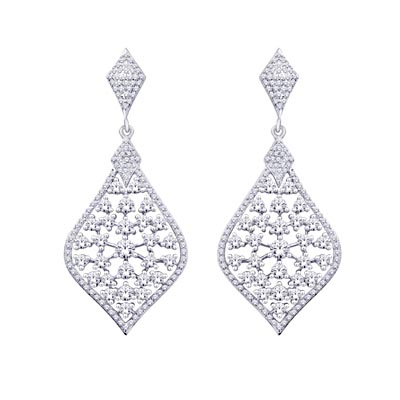 Diamond Fashion Earrings 2.5 Carat Total Weight