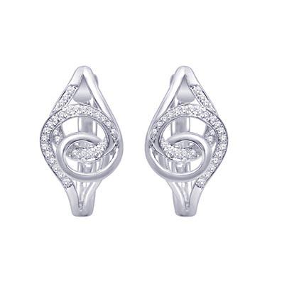 Diamond Huggies Earrings 1 10 Carat Total Weight