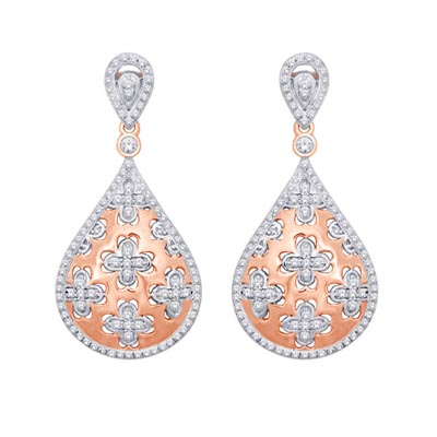 Diamond Fashion Earrings 3/4 Carat Total Weight