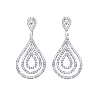Diamond Fashion Earrings .90 Carat Total Weight