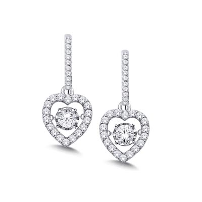 Moving Diamond Fashion Earrings 3/8 Carat Total Weight