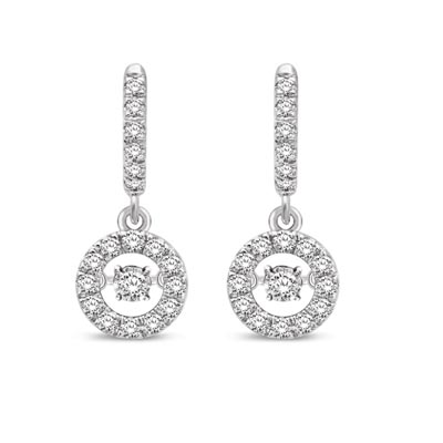 Moving Diamond Earrings 62 Carat Total Weight