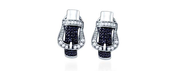 Micro Pave Diamond Earrings 5/8 Carat Total Weight 0.61 Carat Total Weight