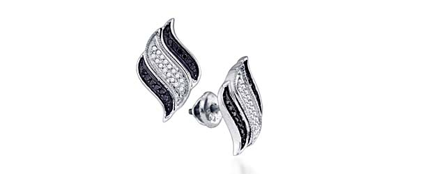 Micro Pave Diamond Earrings 1/4 Carat Total Weight 1/4 Carat Total Weight