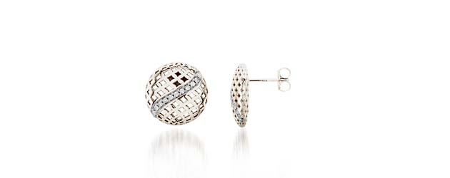 Diamond Button Earrings 1/10 Carat Total Weight