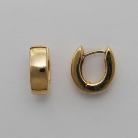 dcb5bd03f55 14K Gold Hug Style Earring - Horseshoe [AHUGER03] | USA Jewels