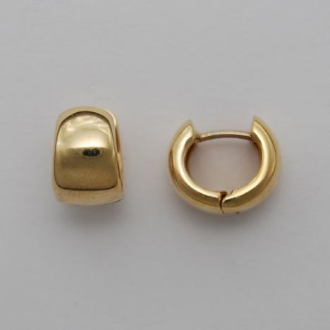 14k Yellow Gold Huggie Style Earrings