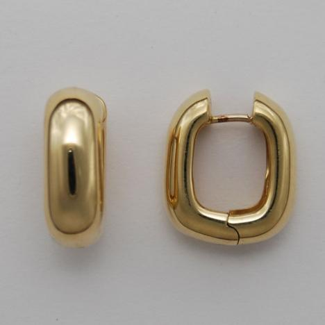 14k Gold Huggie Style Puffy Square Earrings Ahuger35 Usa Jewels