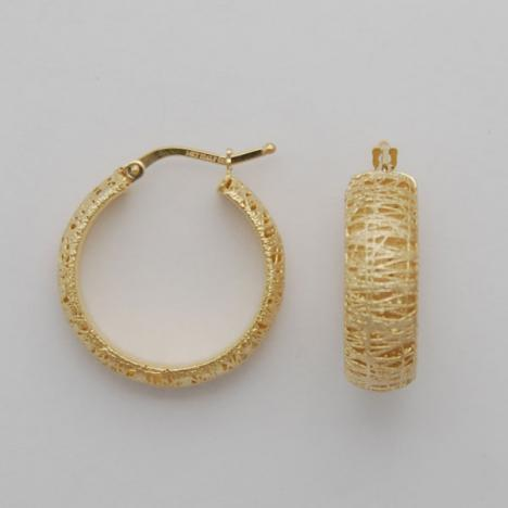14K Yellow Gold Round Hoop Earrings 25mm