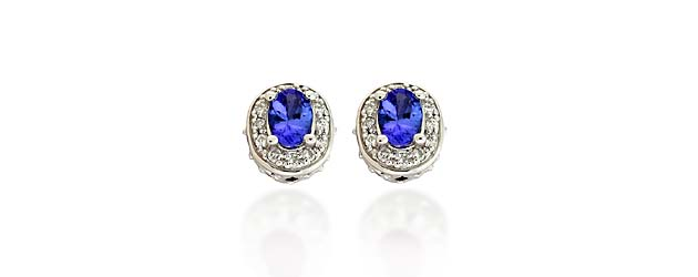 Diamond Accented Tanzanite Earrings 2.21 Carat Total Weight